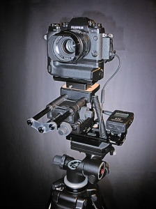 Camera on multi-axis micro-adjustable tripod head