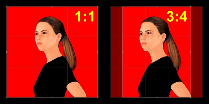 1x1-3x4-conversion